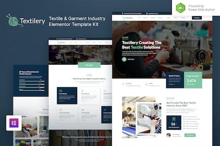 Textilery – Textile & Garment Industry Elementor Template Kit