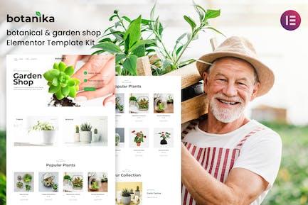 Botanika - Botanical Garden Shop Elementor Template kit
