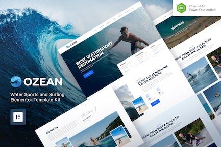 Ozean – Water Sports & Surfing Elementor Template Kit