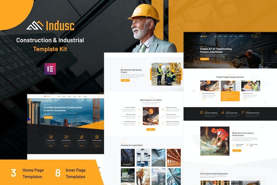Indusc - Construction & Industrial Elementor Template Kit