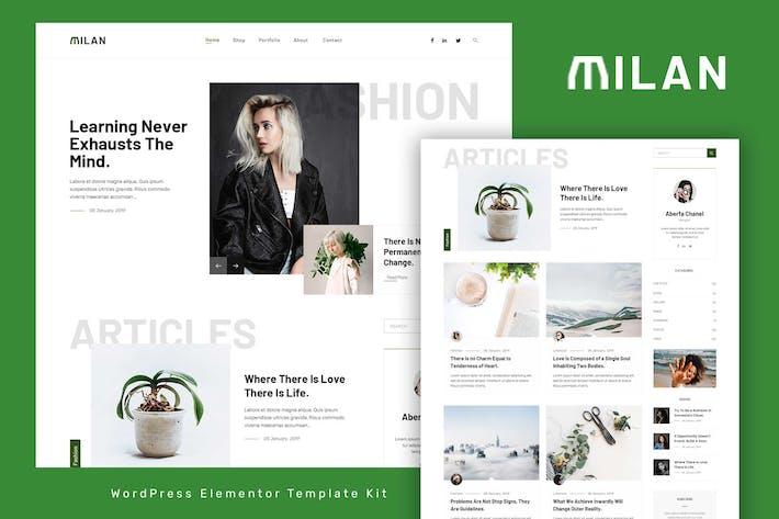 Milan - Blog & Magazine Elementor Template Kit