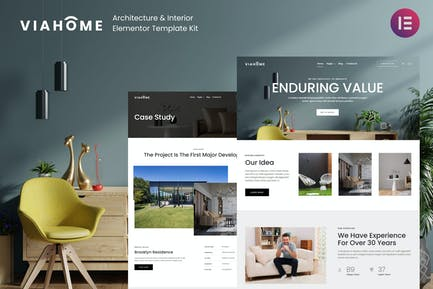 Viahome - Architecture & Interior Elementor Template Kit
