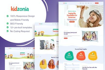 Kidzonia - Kindergarten & Child Care Elementor Template Kit