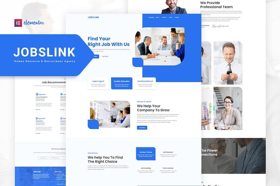 Jobslink – Human Resource & Recruitment Agency Elementor Template Kit