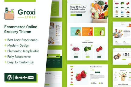 Groxi - Grocery Store Elementor Template Kit