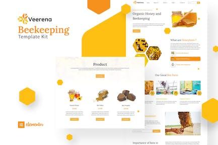 Veerena -  Honey Bee Elementor Template Kit