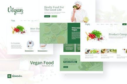 Vegan Restaurant Elementor Template Kit
