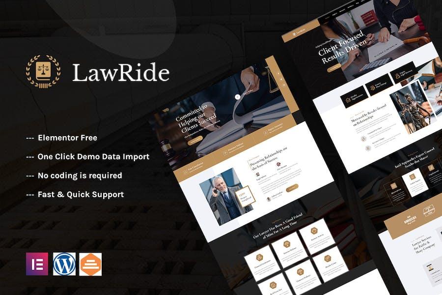 Lawride - Lawyer & Law Firm Elementor Template Kit