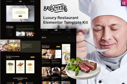 Bruschettas - Luxury Restaurant Elementor Template Kit