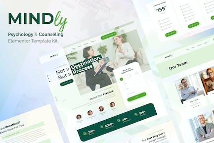 Mindly - Template Kit para Elementor de Psicología, Terapia y Consejería
