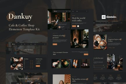 Dankuy - Template Kit Elementor para cafeterías y cafeterías