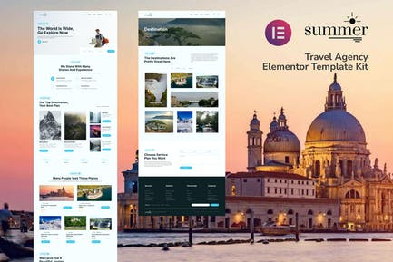 Summer - Template Kit Elementor para Agencia de viajes