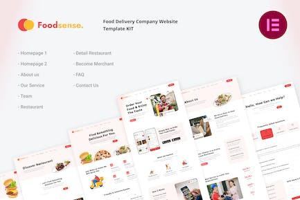 FoodSense | Food Delivery Elementor Template Kit
