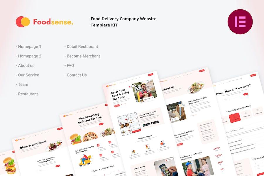 FoodSense   Food Delivery Elementor Template Kit