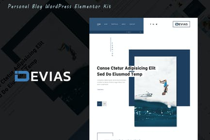 Devias - Blog & Magazine Elementor Template Kit