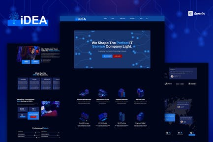 iDea - Technology & IT Network Service  Elementor Template Kit
