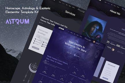 Astrum - Horoscope Astrology & Esoteric Magic Elementor Template Kit