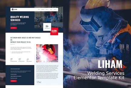 Liham - Welding Services Elementor Template kit