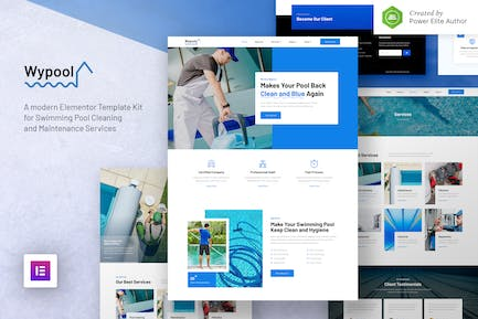 Wypool – Swimming Pool Cleaning & Maintenance Services Elementor Template Kit