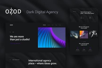 Ozod - Dark Digital Agency Elementor Template Kit