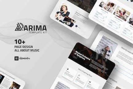 Arima - Musical Symphony Elementor Template Kit