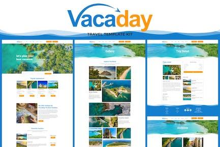 Vacaday - Template Kit Elementor para Agencia de viajes