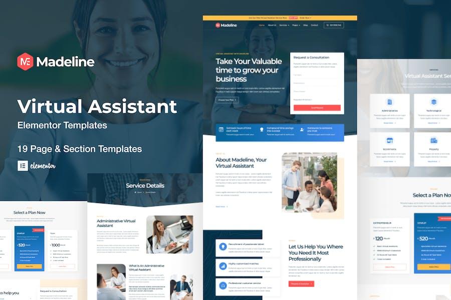 Madeline - Virtual Assistant Website Elementor Template Kit