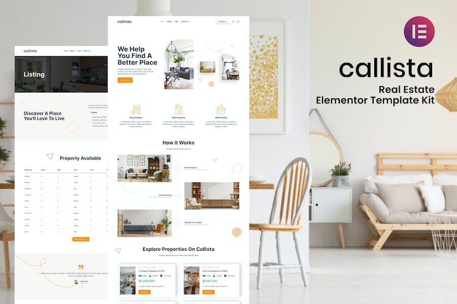 Callista - Real Estate Elementor Template Kit