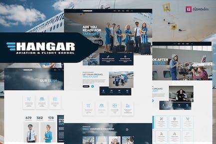 Hangar - Aviation & Flight School Elementor Template Kit