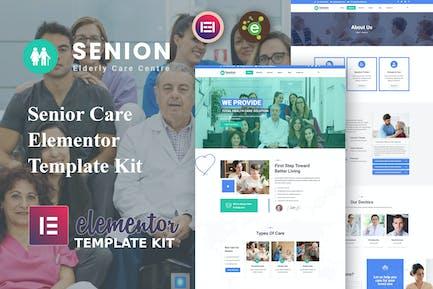 Senion - Senior Care Elementor Template Kit