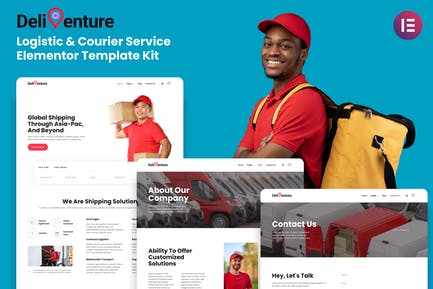Deliventure - Logistic & Courier Service Elementor Template Kit