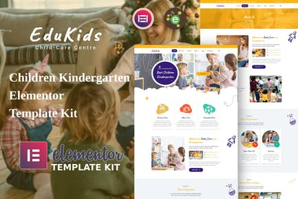 EduKids - Children Kindergarten Elementor Template Kit