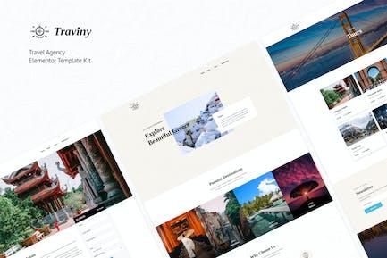 Traviny | Travel Agency Elementor Template Kit