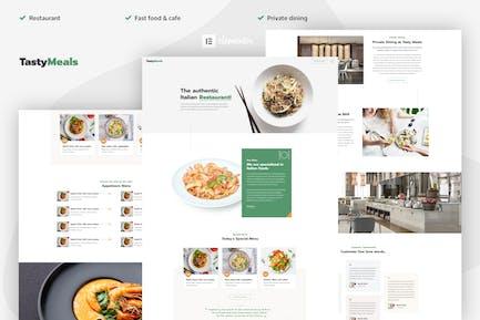 TastyMeals - Restaurant & Cafe Elementor Template Kit