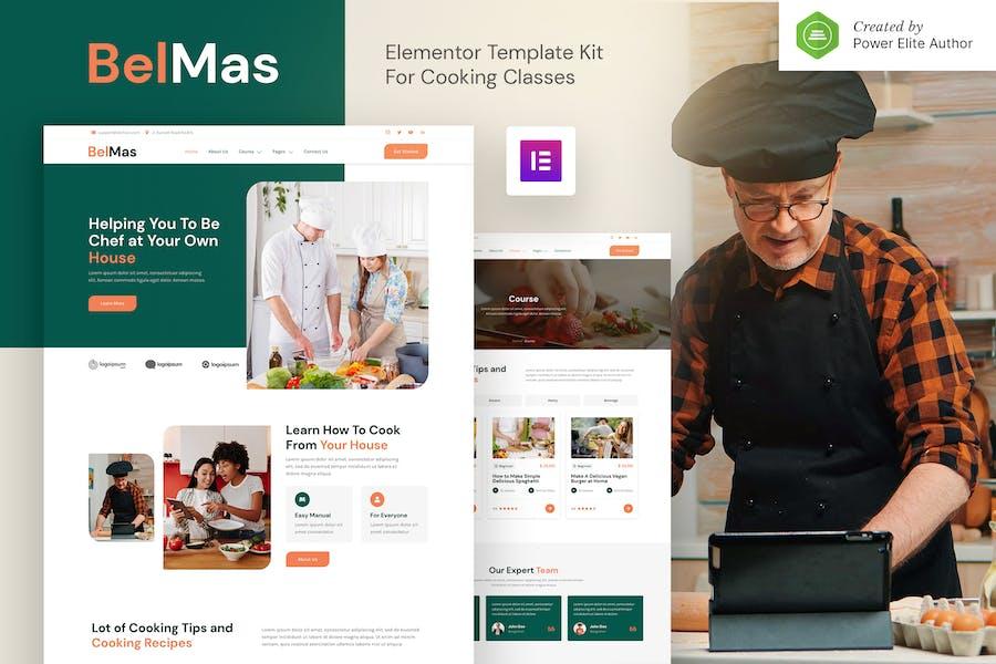BelMas - Template Kit Elementor para clases y talleres de cocina en línea