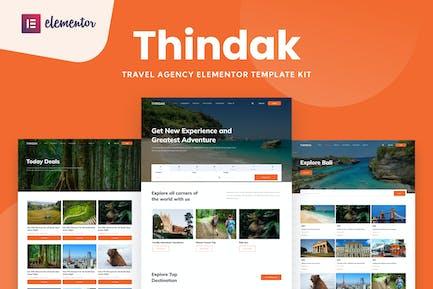 Thindak - Travel Agency Elementor Template Kit