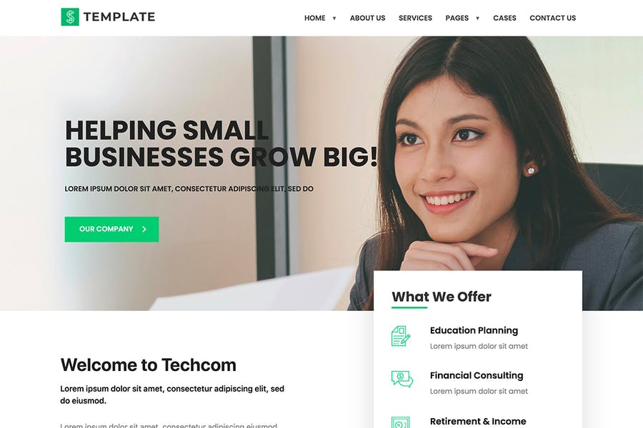 Techcom - Investment Consulting Elementor Template Kit