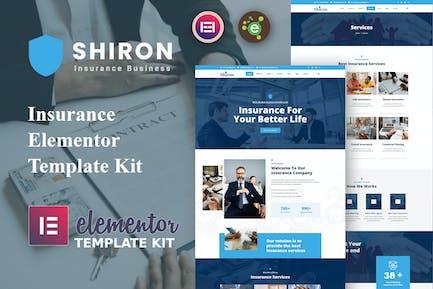 Shiron - Insurance Elementor Template Kit