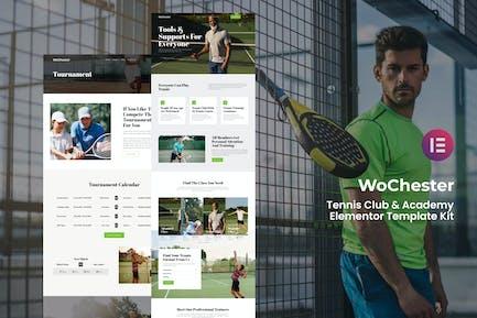 WoChester - Tennis Club & Academy Elementor Template Kit