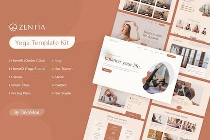 Zentia | Yoga Teacher & Studio Elementor Template Kit
