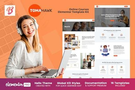 Tomahawk - Online Courses Elementor Template Kit