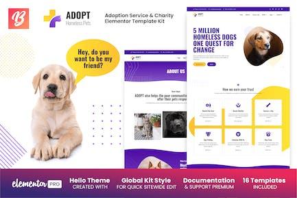 Adopt - Adoption Service & Charity Elementor Template Kit