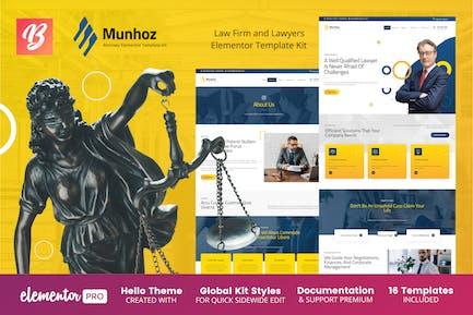Munhoz - Law Firm & Attorneys Elementor Template Kit