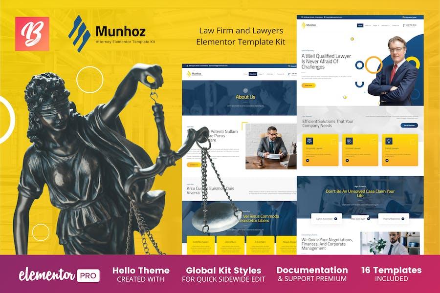 Munhoz - Template Kit Elementor de Bufete de Abogados y Abogados