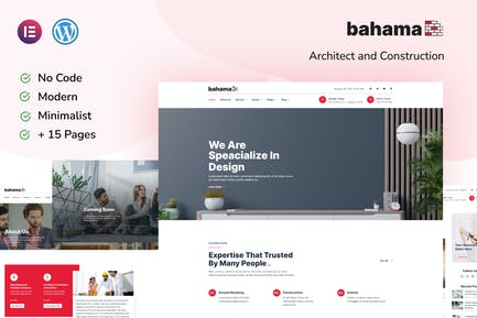 Bahama Contractor & Architect Elementor Template Kit