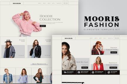 Mooris - WooCommerce Fashion Elementor Template Kit