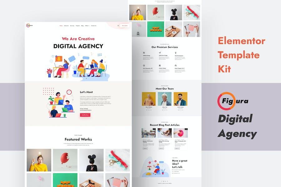Figura - Creative Agency Elementor Template Kit