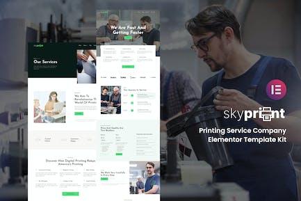 Skyprint - Printing Service Company Elementor Template Kit