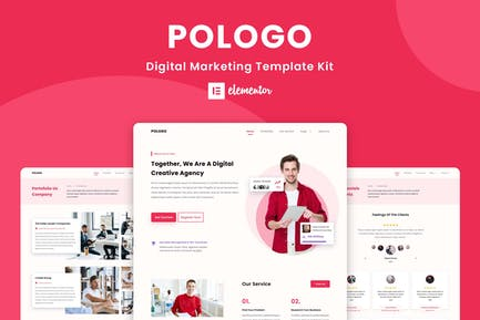 Pologo - Digital Marketing Elementor Template Kit