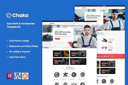 Chakta - Auto Parts Store & Accessories Elementor Template Kit